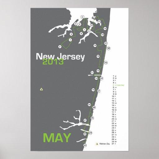 Mapa del maratón de NJ Poster