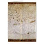 Mapa del mediterráneo del este felicitación