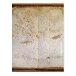 Mapa del mediterráneo del este tarjetas postales