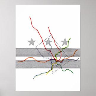 Mapa del metro de DC Impresiones