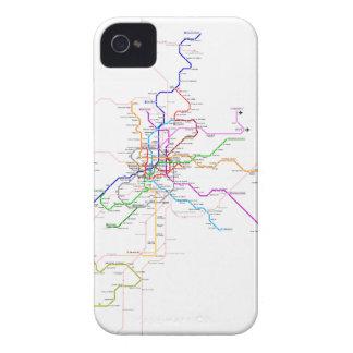 Mapa del metro de Madrid (España) iPhone 4 Cárcasa