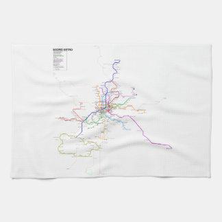 Mapa del metro de Madrid (España) Toalla De Cocina