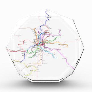 Mapa del metro de Madrid (España)
