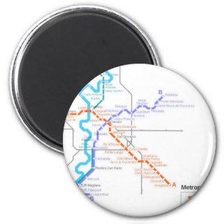 Mapa del metro de Roma Iman De Frigorífico