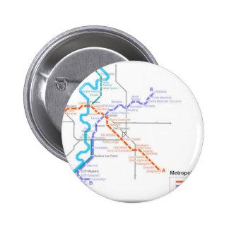 Mapa del metro de Roma Pin