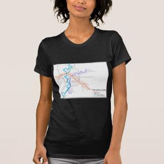 Mapa del metro de Roma Camisetas