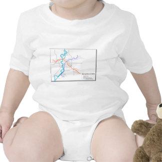 Mapa del metro de Roma Traje De Bebé