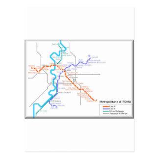 Mapa del metro de Roma Postales