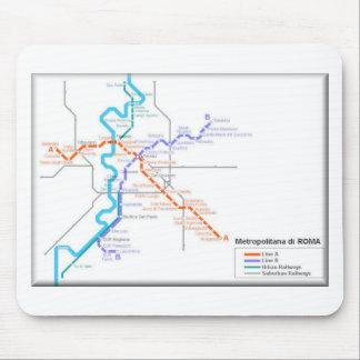 Mapa del metro de Roma Tapetes De Ratones