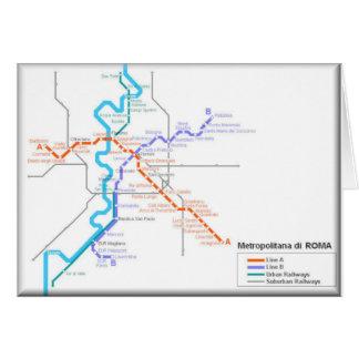 Mapa del metro de Roma Tarjeta De Felicitación