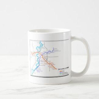 Mapa del metro de Roma Tazas De Café
