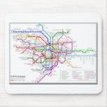 Mapa del metro de Tokio Alfombrillas De Ratones
