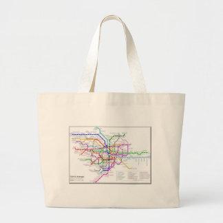Mapa del metro de Tokio Bolsa Lienzo