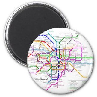 Mapa del metro de Tokio Imán Redondo 5 Cm