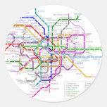 Mapa del metro de Tokio Pegatina Redonda