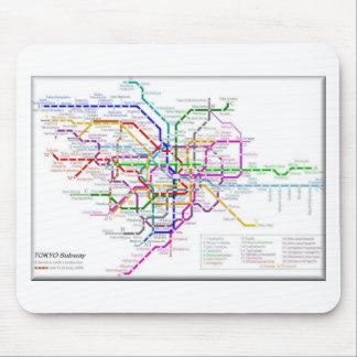 Mapa del metro de Tokio Tapete De Raton