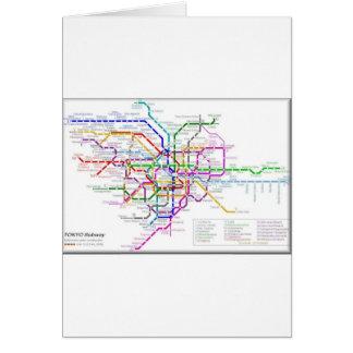 Mapa del metro de Tokio Tarjeta De Felicitación