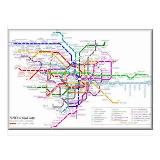 Mapa del metro de Tokio Postales
