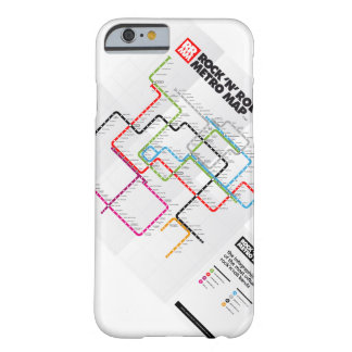 Mapa del metro del rock-and-roll (historia de la funda para iPhone 6 barely there