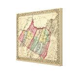 Mapa del mineral, condados de Hampshire Impresiones De Lienzo