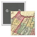Mapa del mineral, condados de Hampshire Pin Cuadrado