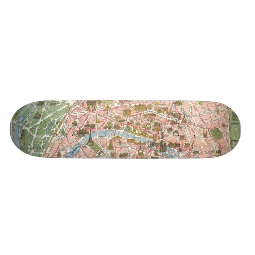 Mapa del monopatín de París favorable