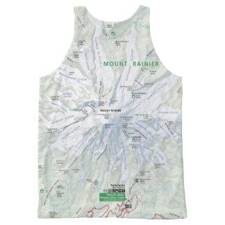 Mapa del Monte Rainier unisex