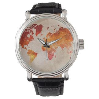 mapa del mundo 13 relojes