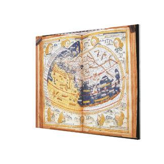 Mapa del mundo, 1486 impresión en lienzo estirada