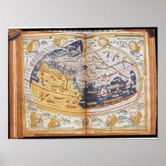 Mapa del mundo, 1486 póster