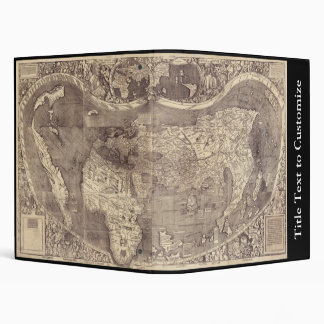 "Mapa del mundo 1507 de Martin Waldseemuller Carpeta 1"""