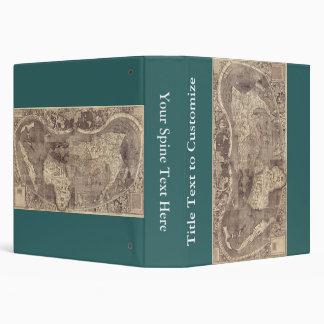 "Mapa del mundo 1507 de Martin Waldseemuller Carpeta 1 1/2"""