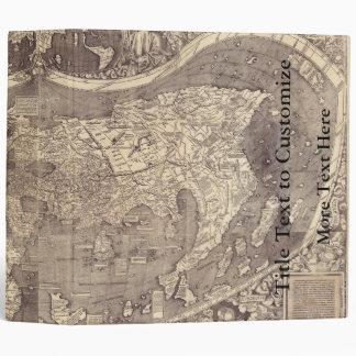 "Mapa del mundo 1507 de Martin Waldseemuller Carpeta 2"""