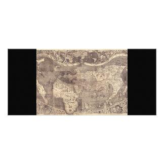 "Mapa del mundo 1507 de Martin Waldseemuller Folleto Publicitario 4"" X 9"""