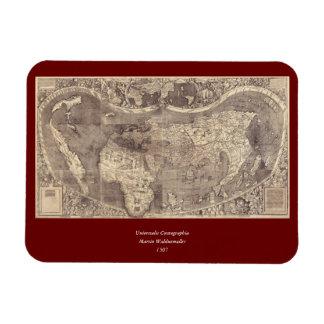 Mapa del mundo 1507 de Martin Waldseemuller Iman De Vinilo