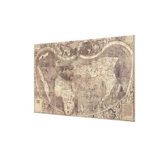 Mapa del mundo 1507 de Martin Waldseemuller Impresiones De Lienzo