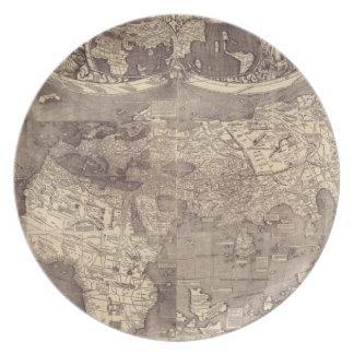 Mapa del mundo 1507 de Martin Waldseemuller Platos
