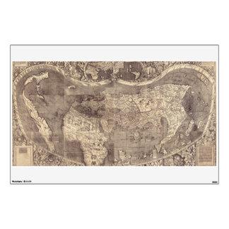Mapa del mundo 1507 de Martin Waldseemuller Vinilo Decorativo