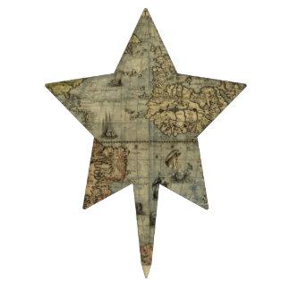 Mapa del mundo 1565 de Ferando Berteli (Fernando B Decoraciones Para Tartas