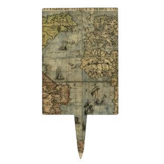 Mapa del mundo 1565 de Ferando Berteli (Fernando B Decoración De Tarta