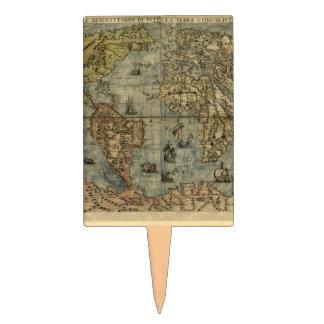 Mapa del mundo 1565 de Ferando Berteli (Fernando B Figuras Para Tartas