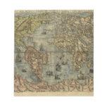 Mapa del mundo 1565 de Ferando Berteli (Fernando B Bloc De Papel