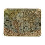 Mapa del mundo 1565 de Ferando Berteli (Fernando B Imanes De Vinilo