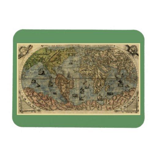 Mapa del mundo 1565 de Ferando Berteli (Fernando B Imanes