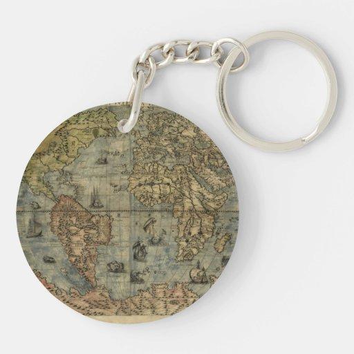 Mapa del mundo 1565 de Ferando Berteli (Fernando B Llavero