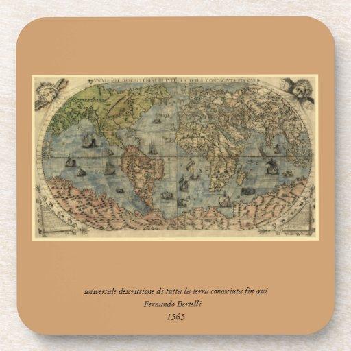 Mapa del mundo 1565 de Ferando Berteli (Fernando B Posavaso
