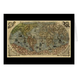 Mapa del mundo 1565 de Ferando Berteli (Fernando B Tarjeta