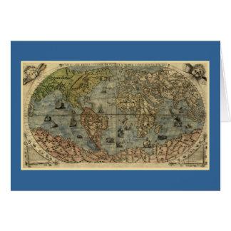 Mapa del mundo 1565 de Ferando Berteli (Fernando B Tarjetón