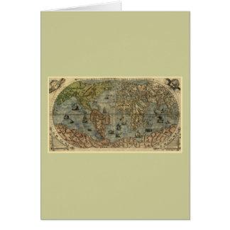 Mapa del mundo 1565 de Ferando Berteli (Fernando B Felicitaciones