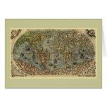 Mapa del mundo 1565 de Ferando Berteli (Fernando B Tarjeton